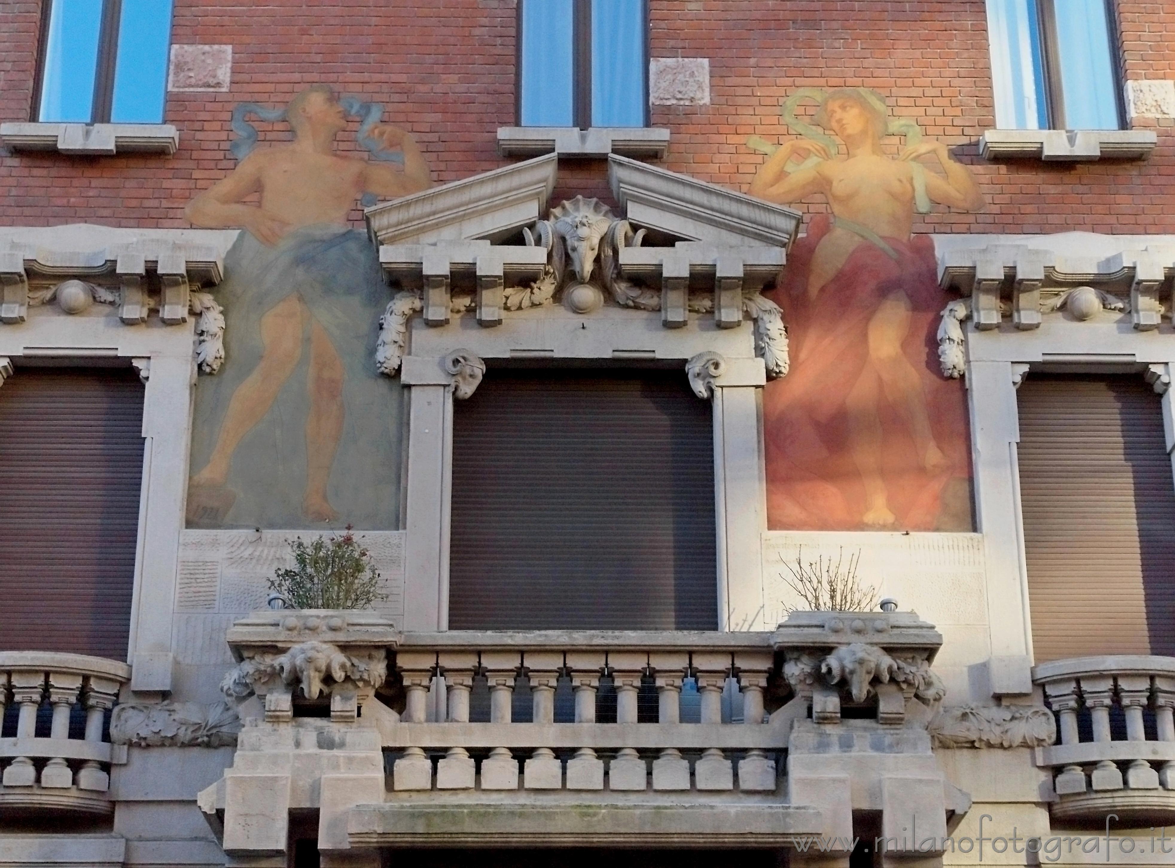Milano facciata della casa meregalli in via mozart for 20 x 20 planimetrie della casa