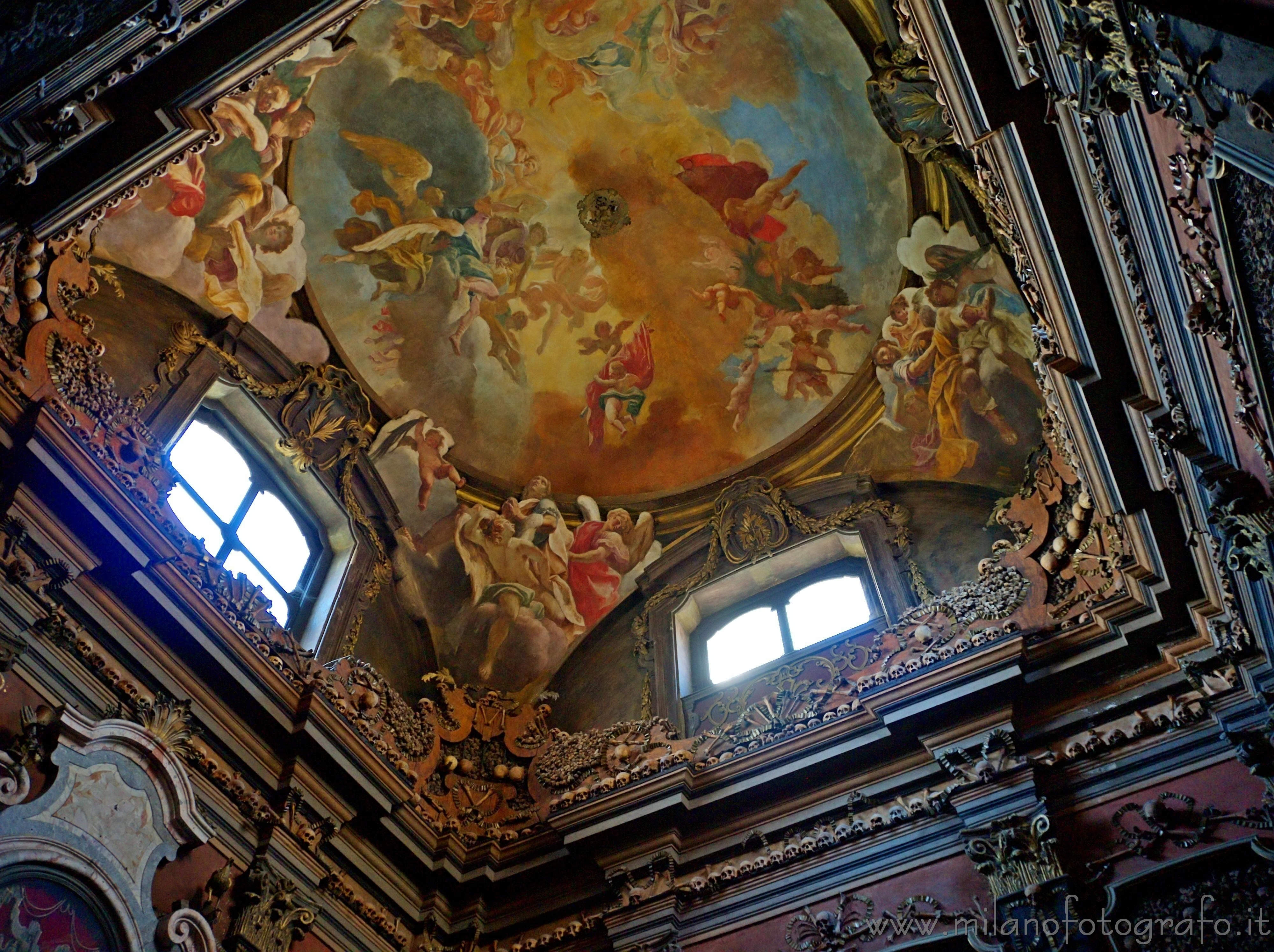 Milan (Italy): Frescos on the voult of the ossuary of di San Bernardino alle Ossa - Milan (Italy)