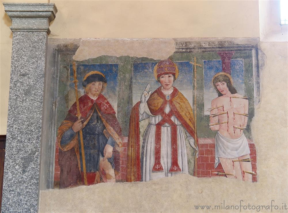 Benna (Biella, Italy) - Frescoes of the early sixteenth century in the Church of San Pietro