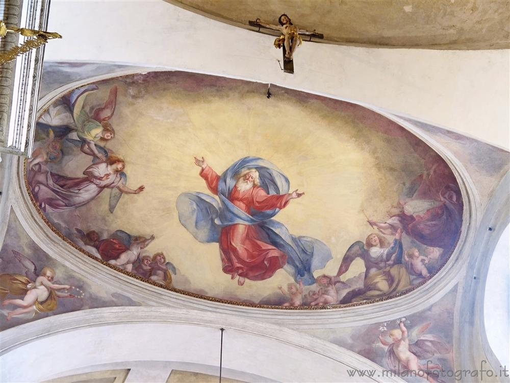 Milan (Italy) - Frescos on the voult of the aps of the Church of Saint Mary of the Healthcare