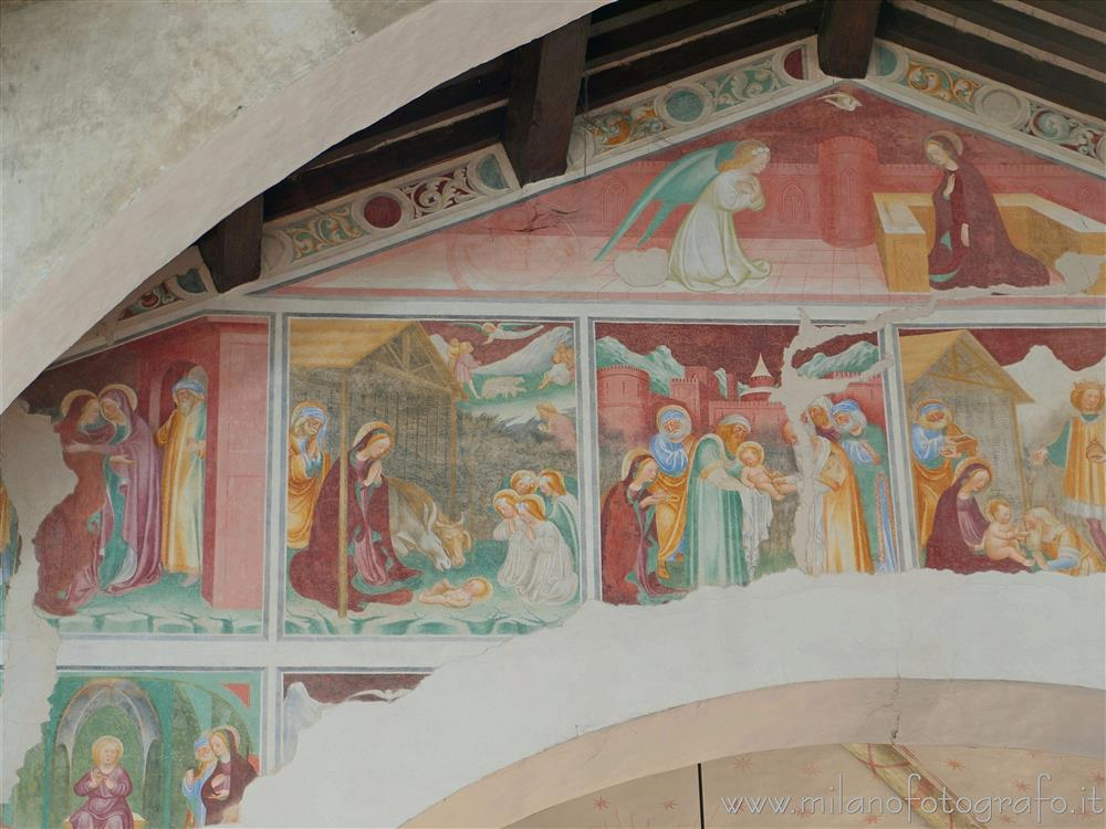 Novara (Italy) - Frescos with episodes of the life of Jesus