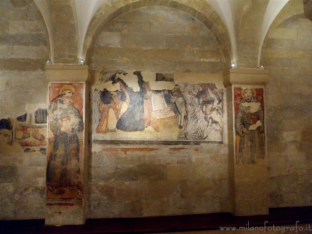 Otranto (Lecce, Italy) - Fresco of the nativity in the crypt of the Cathedral