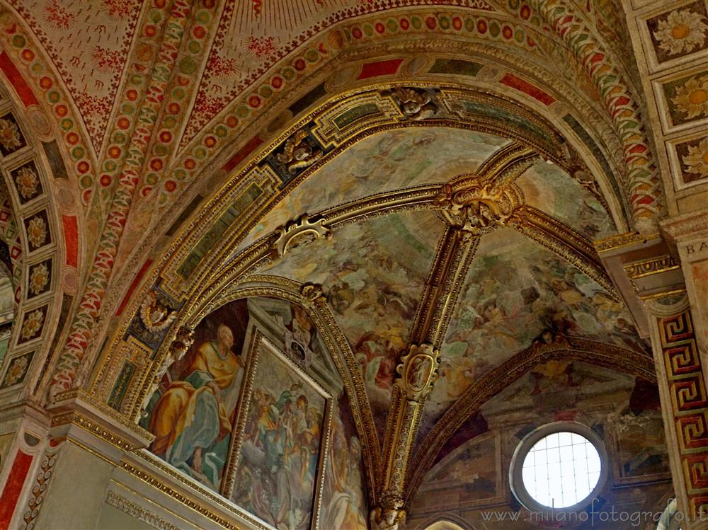 Milan (Italy) - Frescos on the voults of Santa Maria delle Grazie
