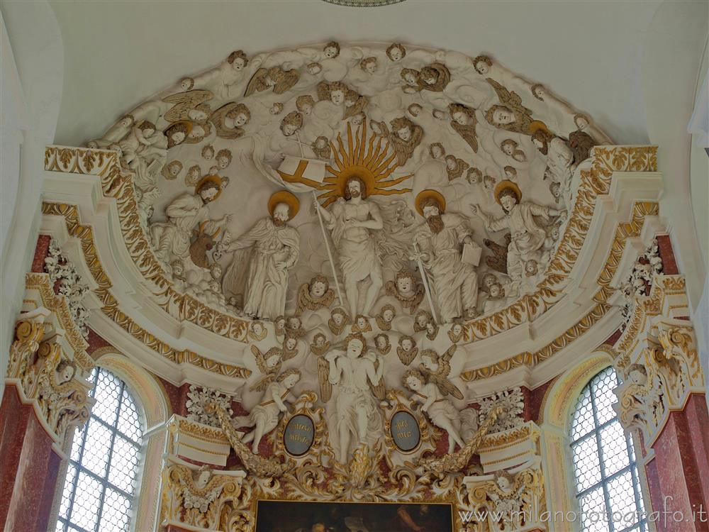 Rottenburg am Neckar (Germany) - Decorated Aps of the church of the Sanctuary of WeggenTal