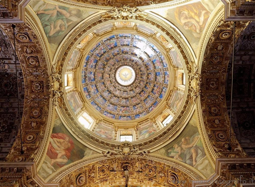 Milan (Italy) - Interior of the dome of the Basilica of San Vittore al Corpo