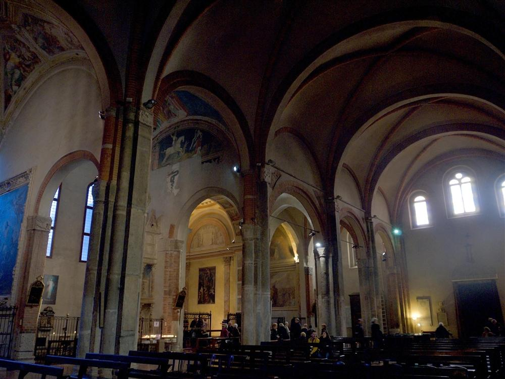 Milan (Italy) - Interiors of the Basilica of Sant Eustorgio