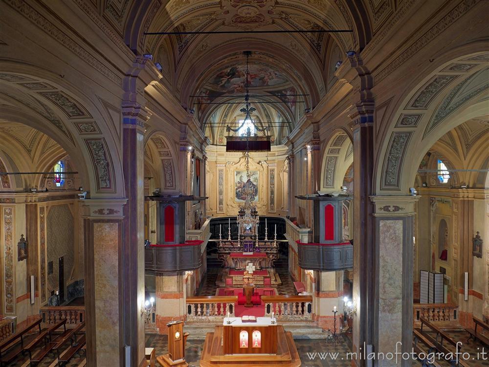 Interni decorati della chiesa di san colombano biandrate for Muri interni decorati