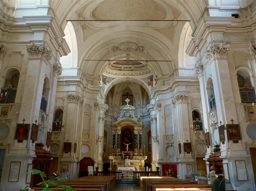 Campiglia / San Paolo Cervo (Biella, Italy) - Interiors of the Sanctuary of San Giovanni from Andorno