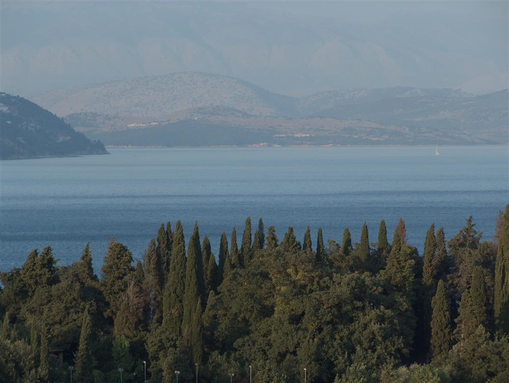Korfu (Greece) - Panorama from Gouvia in late afternoon