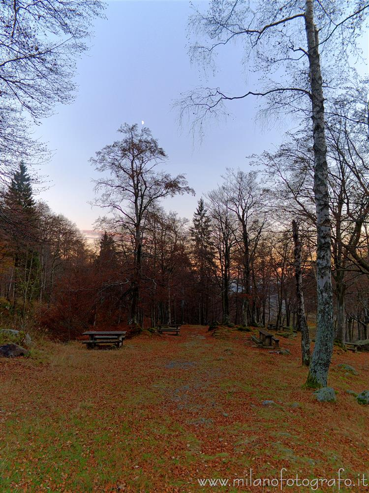 Sanctuary of Oropa (Biella, Italy) - Autumn clearing at darkening