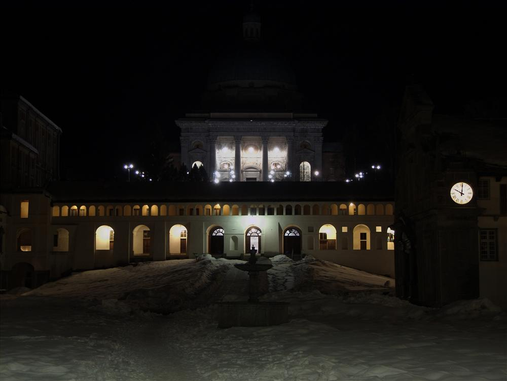 Sanctuary of Oropa (Biella, Italy) - Oropa Sanctuary by night