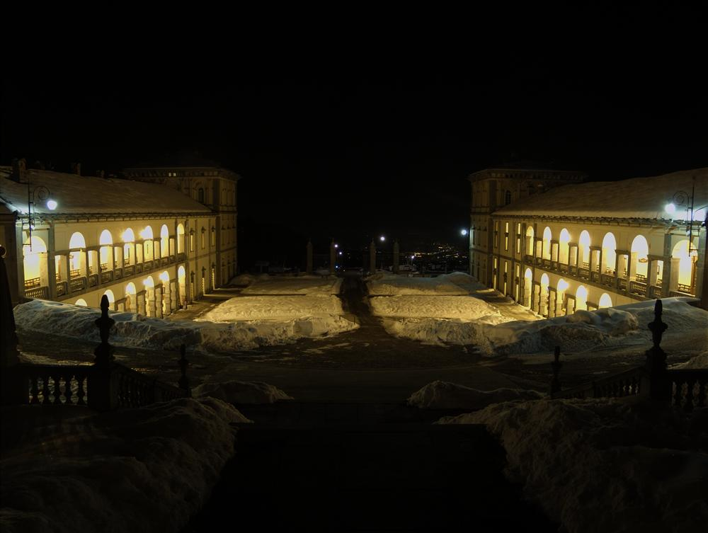 Sanctuary of Oropa (Biella, Italy) - Panorama by night from the Oropa Santuary