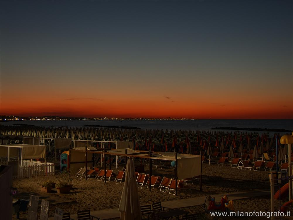 Cattolica (Rimini, Italy) - Beach of Cattolica after the sunset