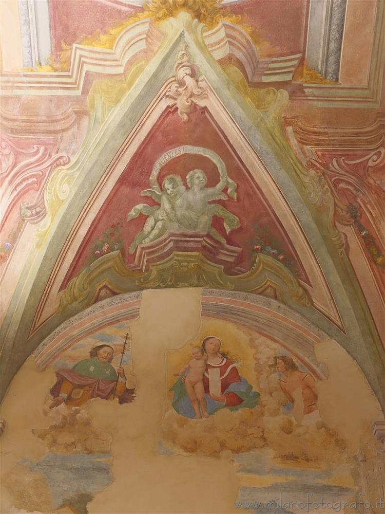 Milan (Italy) - Detail of the frescos inside the Sanctuary of the Ortica