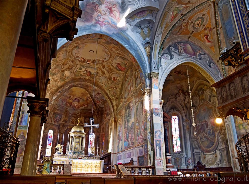 Monza (Monza e Brianza, Italy) - Walls covered with frescos in the Cathedral of Monza
