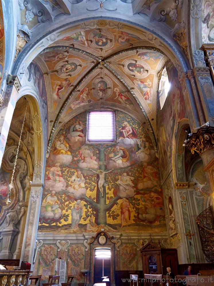 Monza (Monza e Brianza, Italy) - Frescos on the right wall of the transept of the Duomo of Monza