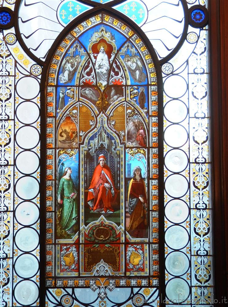 Milan (Italy) - Decorated window of the Poldi Pezzoli Museum