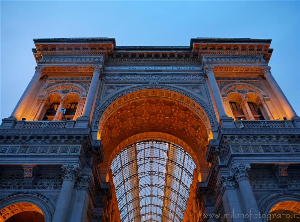 Milan (Italy) - The entrance of Galleria Vittorio Emanuele