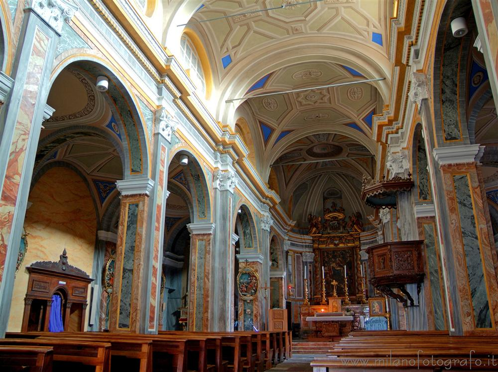 Sagliano Micca (Biella, Italy) - Interiors of the Church of the Saints Giacomo and  Stefano