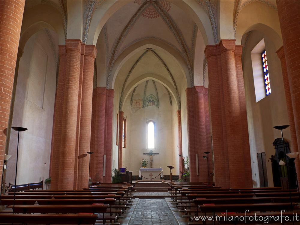 San Nazzaro Sesia (Novara, Italy) - Interior of the church of the Abbey of Saints Nazario and Celso