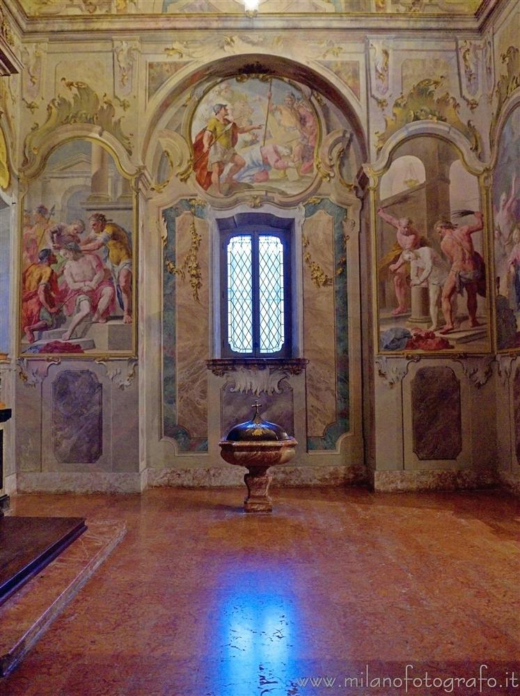 Milan (Italy) - Right lateral chapel of the Chartreuse of Garegnano