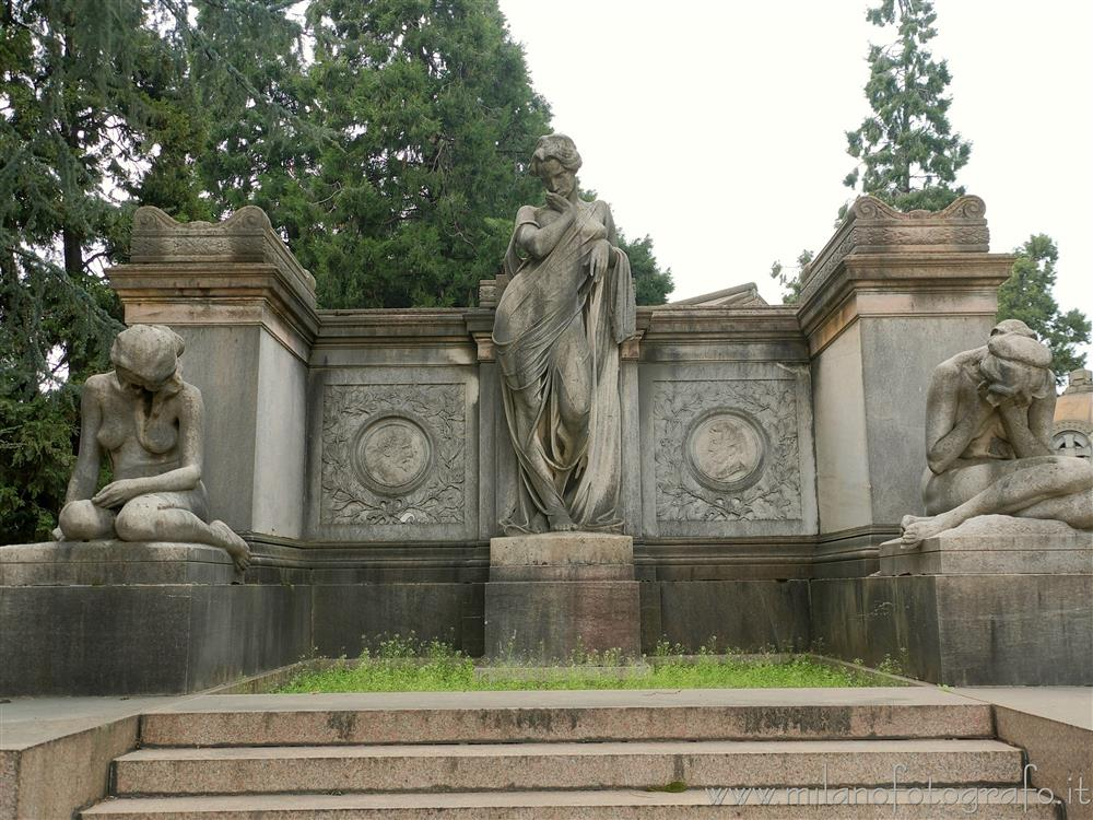 Milan (Italy) - Funeral monument in the Monumental Cemetery
