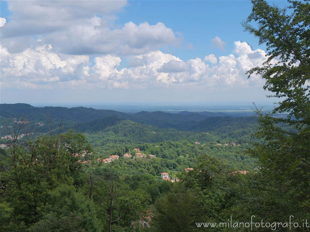 Trivero (Biella, Italy) - Sight over the valley from the Sanctuary of the Moorland