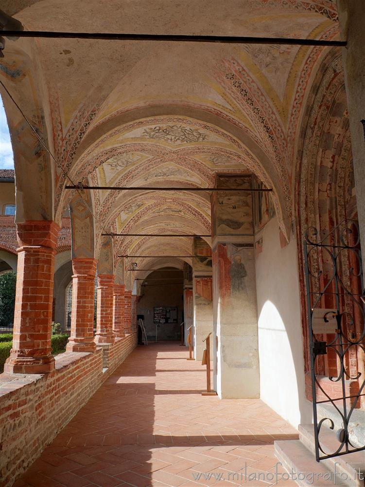 San Nazzaro Sesia (Novara, Italy) - Portico of the cloister of the Abbey of Saints Nazario and Celso