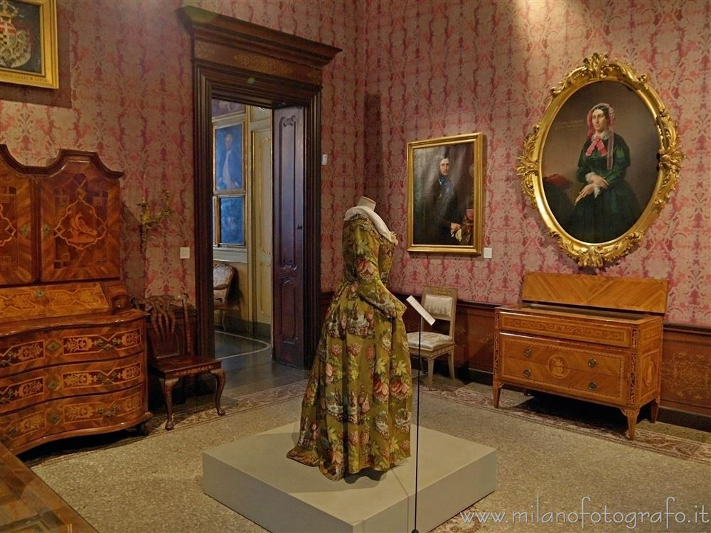 Milan (Italy) - Red Room in Morando Palace