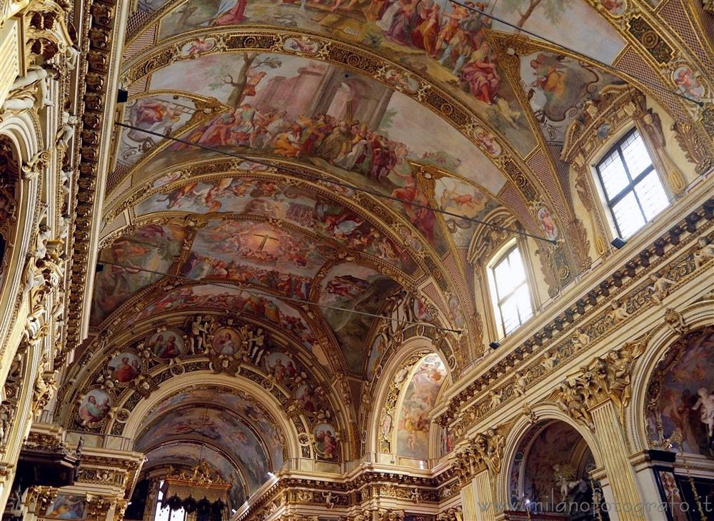Milan (Italy) - Ceiling covered with frescos of the Church of Sant Antonio Abate