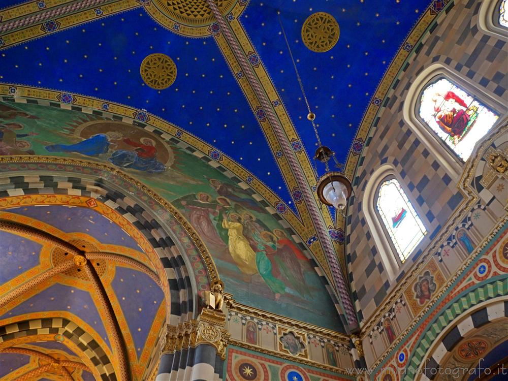 Milan (Italy) - Ceiling covered with freskos of the Basilica of Sant Eufemia