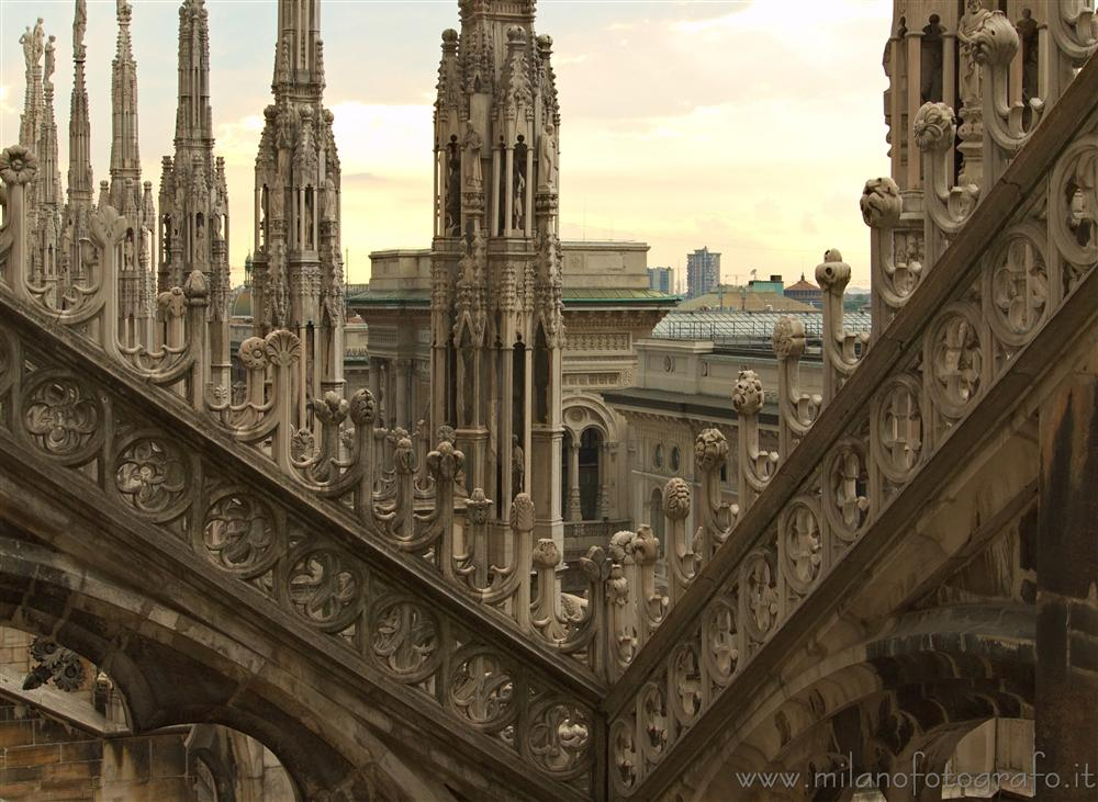 Milan (Italy) - Sight from the top of the Duomo
