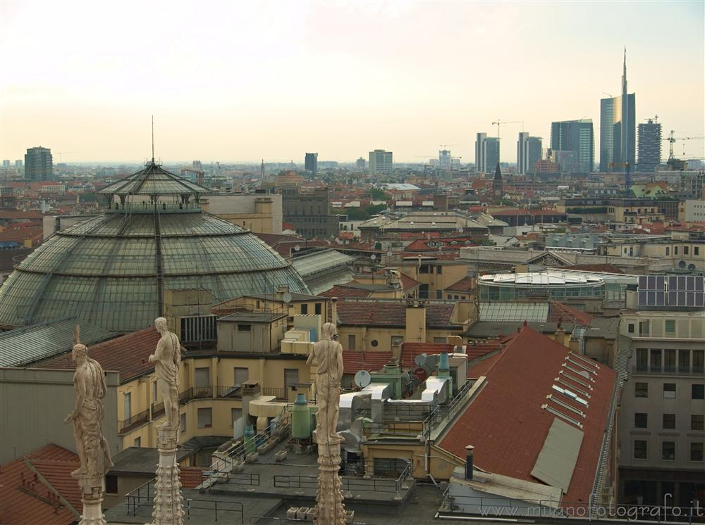 Milan (Italy) - View over the city from the roof of the Duomo