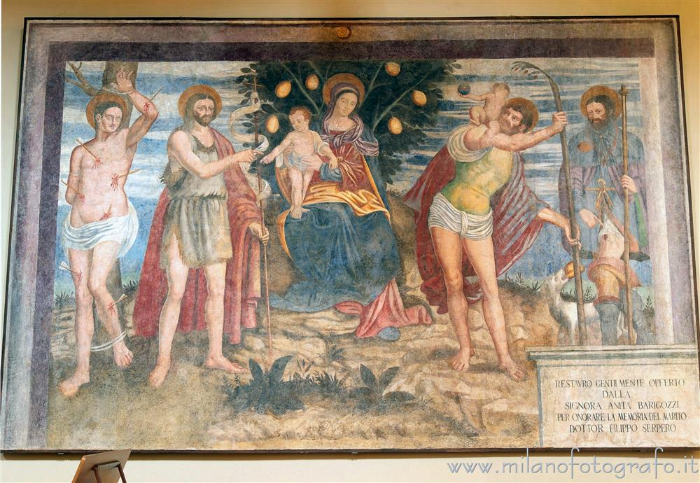 Sesto Calende (Varese, Italy) - Vergin of the Lemons in the Abbey of San Donato