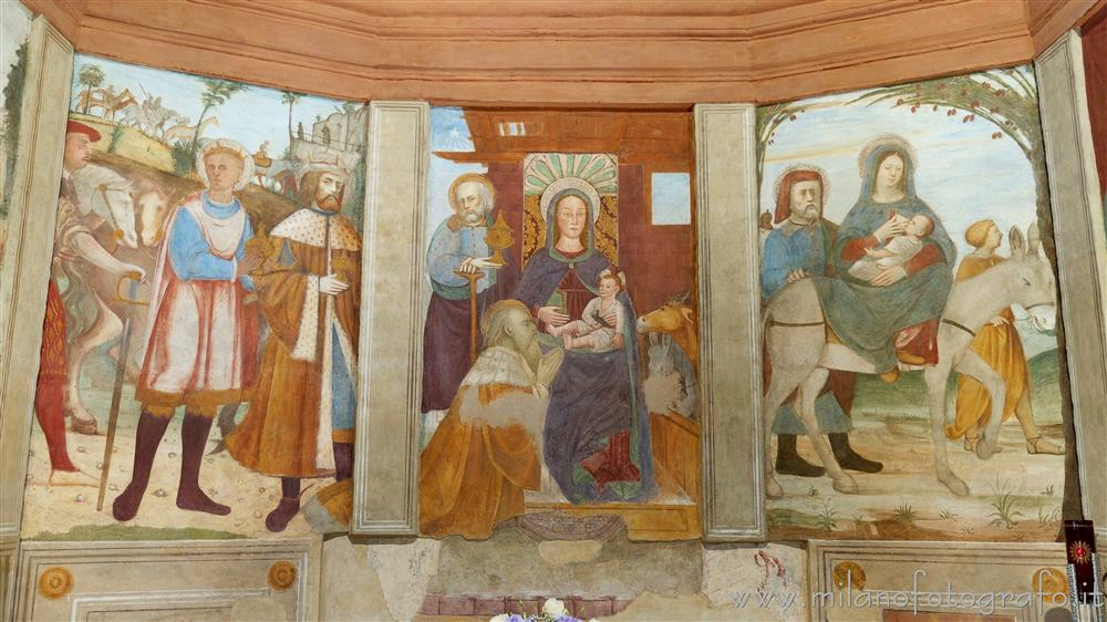 Cogliate (Milano, Italy) - Frescos in the chapel dedicated to the life of Maria in the Church of San Damiano