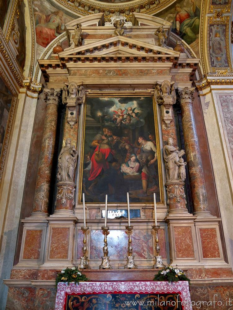 Milan (Italy) - Altar of the Chapel of the Nativity in the Church of Sant'Alessandro