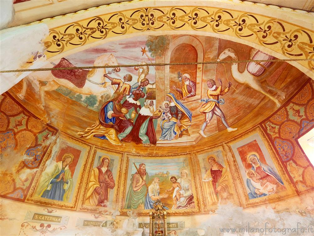 Andorno Micca (Biella, Italy) - Frescoes in the apse of the Chapel of the Hermit
