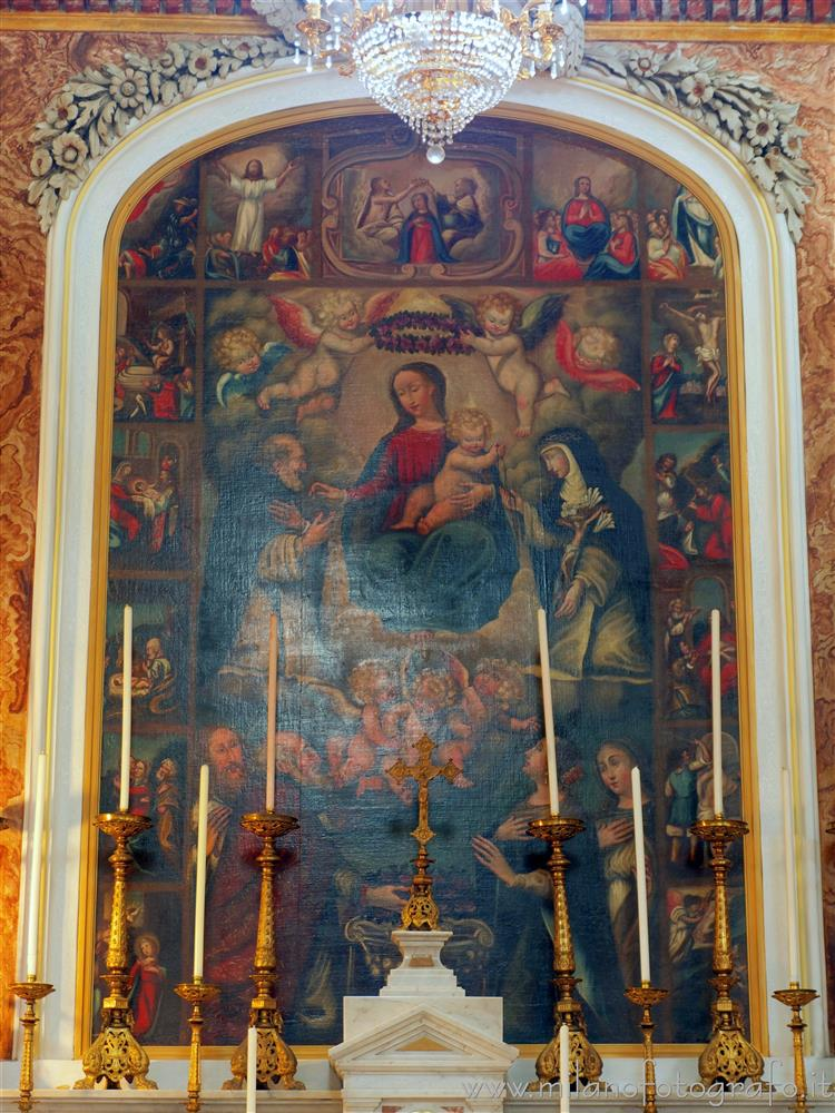 Andorno Micca (Biella, Italy) - Polyptych of the Crowned Virgin in the Church of San Giuseppe di Casto