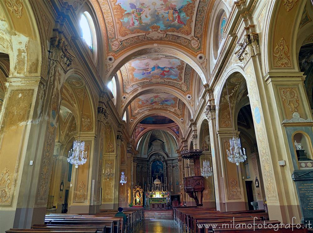 Andorno Micca (Biella, Italy) - Interior of the Church of San Lorenzo