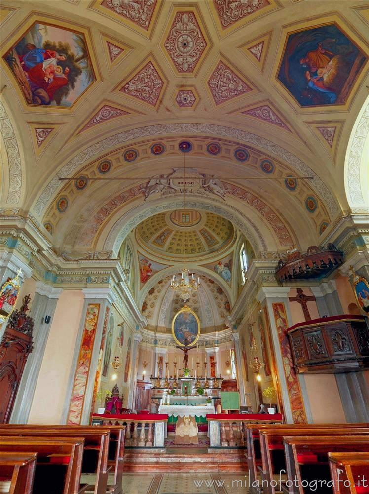 Andorno Micca (Biella, Italy) - Interior of the Church of San Giuseppe di Casto