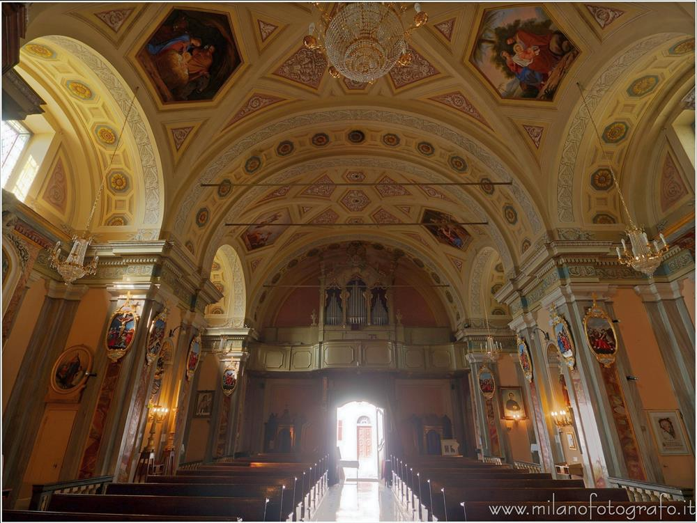 Andorno Micca (Biella, Italy) - Nave of the Church of San Giuseppe di Casto