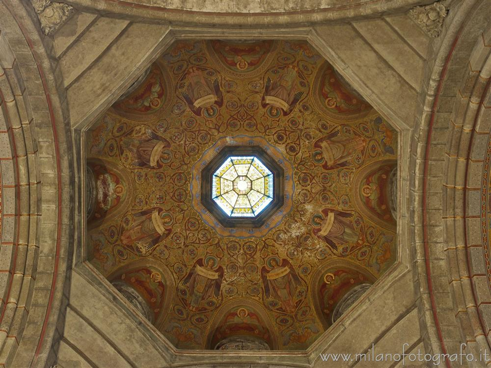 Milan (Italy) - Interior of the dome of the Basilica of the Corpus Domini