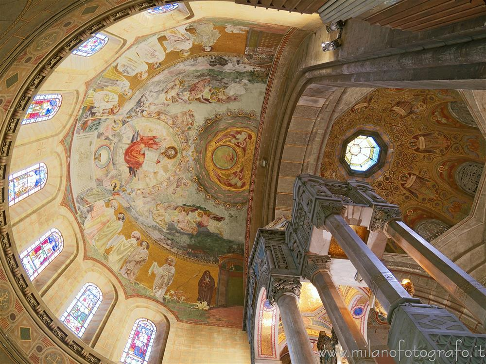 Milan (Italy) - Looking up from behind the main altar of the Basilica of the Corpus Domini