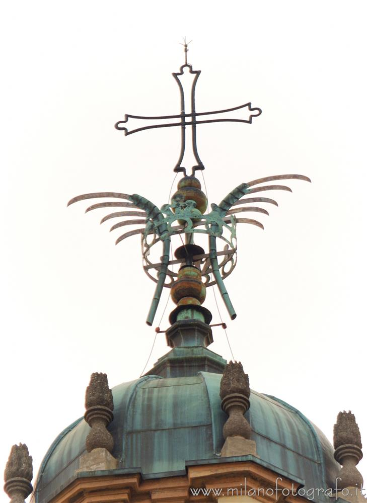 Milan (Italy) - The cross on top of the dome of the Basilica of San Lorenzo Maggiore
