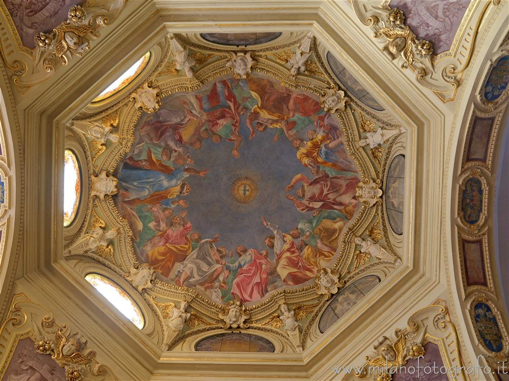 Milan (Italy) - Intrior of the dome of the Chapel of San Giuseppe in the Basilica of San Marco