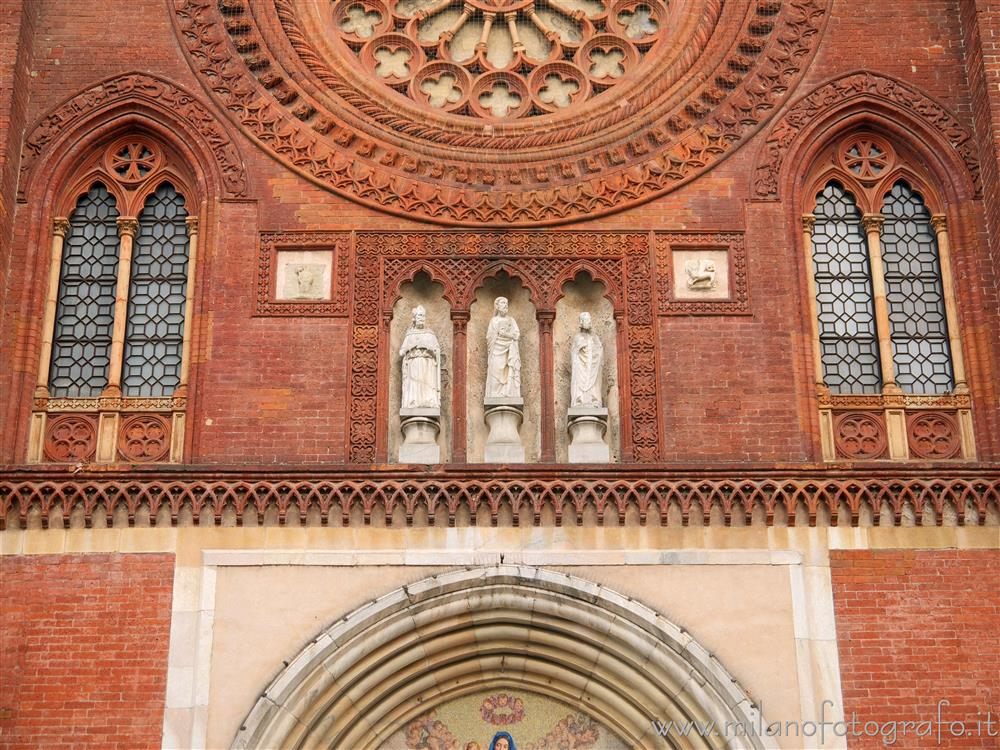 Milan (Italy) - Detail of the facade of the Basilica of San Marco