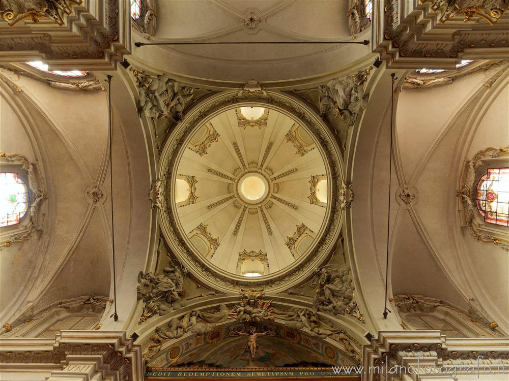 Milan (Italy) - Ceiling of the transept of the Basilica of San Marco