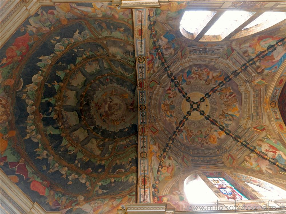 Milan (Italy) - Ceiling of the presbytery of the Basilica of San Marco