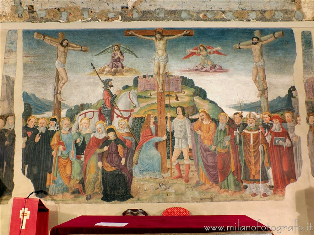 Besana in Brianza (Monza e Brianza, Italy) - Crucifixion in the former refectory of the former Brugora Benedictine Monastery