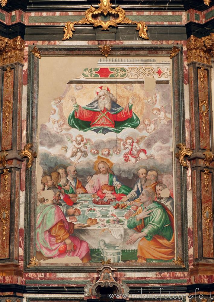 Besana in Brianza (Monza e Brianza, Italy) - Last supper in the public Church of Sts. Peter and Paul of the Former Benedictine Monastery of Brugora